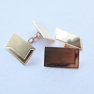 【送料無料】メンズアクセサリ― 60ソリッドゴールドカフリンクス60th birthday gift 1958 hallmarked 9ct solid gold cufflinks