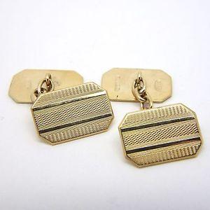 【送料無料】メンズアクセサリ― イエローゴールドビンテージエンジンオンカフスボタンチェーンリンク9ct yellow gold vintage gold engine turned chain vintage engraved cufflinks chain link 15x10mm, ブランド古着ベクトルプレミアム店:9f52a5ca --- sunward.msk.ru
