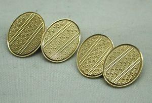 【送料無料】メンズアクセサリ― 1930ヴィンテージアールデコ9ctカフスリンク1930s vintage art deco 9ct gold engraved cufflinks