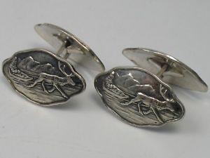 【送料無料】メンズアクセサリ― 830c ostremノルウェートナカイデザイナーカフスリンクheight c strem norway reindeer designer cufflinks made of 830 silver