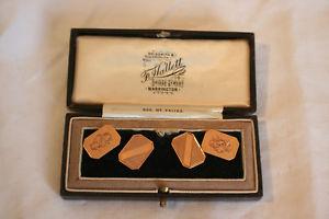 【送料無料】メンズアクセサリ― ローズゴールドバーミンガムボックスカフスボタン9ct gold rose gold box cufflinks full 1929 hallmark birmingham 1929 in original box, エクセル ブランドショッピング:4c3a9f6d --- sunward.msk.ru