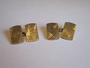 【送料無料】メンズアクセサリ― アンティークゴールドチェーンカフリンクスantique 9ct gold fully hallmarked chain cufflinks