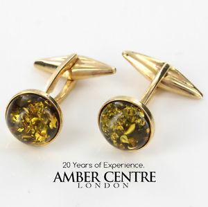 【送料無料】メンズアクセサリ― イタリアクラシックグリーンオレンジカフソリッドゴールド¥リンクitalian made classic green amber cuff links in solid 9ct gold gf0002g rrp285
