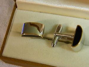 【送料無料】メンズアクセサリ― スターリングシルバーウェールズゴールドカフリンクスclogau sterling silver amp; 9ct welsh gold cuff links rrp 35000