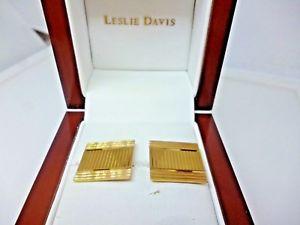 【送料無料】メンズアクセサリ― ヴィンテージソリッドゴールドスクエアカフスボタングラムvintage 1970s solid 9ct 375 gold gents square cufflinks 68 grams