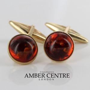 【送料無料】メンズアクセサリ― イタリアソリッドゴールド¥バルトカフスボタンitalian made baltic amber cufflinks in solid 9ct gold gf002 rrp285