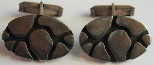【送料無料】メンズアクセサリ― ヴィンテージスターリングシルバーカフスボタンクールvintage very cool modernist sterling silver dimensional cufflinks