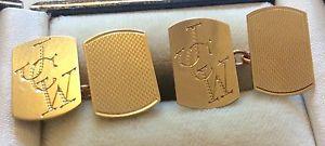 【送料無料】メンズアクセサリ― ビンテージゴールドカフリンクスnice quality gents vintage 1962 full hallmarked 9ct gold cufflinks jcw