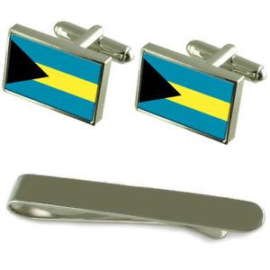 【送料無料】メンズアクセサリ― バハマシルバーカフスボタンタイクリップボックスセットthe bahamas flag silver cufflinks tie clip box gift set