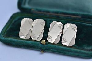 【送料無料】メンズアクセサリ― ヴィンテージゴールドメンズカフスボタンアールデコデザインvintage 9ct gold mens cufflinks with an art deco design 769g g149