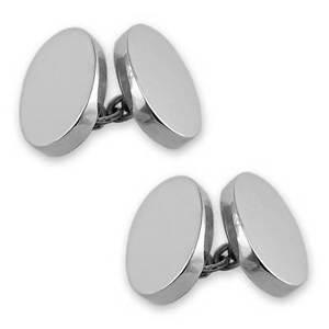 【送料無料】メンズアクセサリ― スターリングシルバーカフリンクスsterling silver heavyweight doublesided oval cufflinks