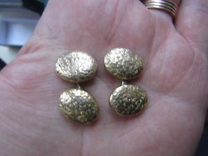 【送料無料】メンズアクセサリ― ビクトリアイエローゴールドオーバルカフスボタンbeautiful fine victorian 10ct yellow gold hand engraved oval cufflinks vgc