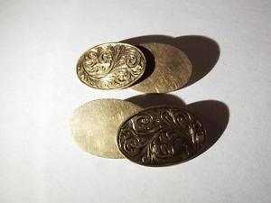 【送料無料】メンズアクセサリ― ヴィンテージゴールドカフリンクスバーミンガムvintage 9 ct gold cufflinks, hallmarked birmingham 1994