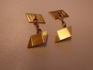 【送料無料】メンズアクセサリ― メンズゴールドヴィンテージカフスボタングラムmens 9ct gold vintage patterned rectangular cufflinks 5 grams