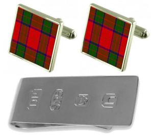 【送料無料】メンズアクセサリ― タータンチェックロバートソンカフスボタンジェームスボンドマネークリップtartan clan robertson cufflinks amp; james bond money clip