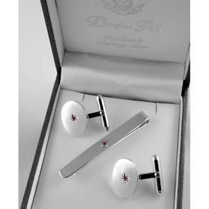【送料無料】メンズアクセサリ― スターリングシルバールビータイスライドセットsterling silver silver set ruby tie slide amp; ruby cufflink set, オウミマチ:0627c230 --- sunward.msk.ru