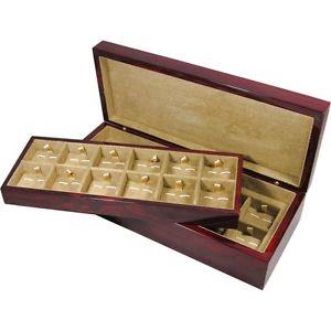 【送料無料】メンズアクセサリ― ラミネートベニヤlaminated rosewood veneer 24 cufflink box by hillwood uk ltd