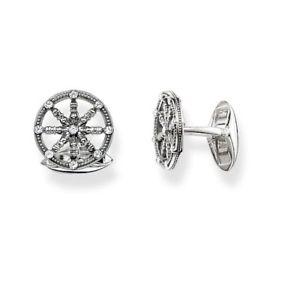 【送料無料】メンズアクセサリ― トーマススターリングシルバーカルホイールカフスボタン¥mk65 genuine thomas sabo sterling silver karma wheel cufflinks 159