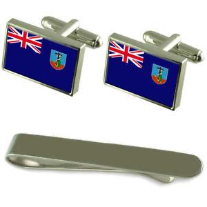 【送料無料】メンズアクセサリ― モントセラトシルバーカフスボタンタイクリップボックスセットmontserrat flag silver cufflinks tie clip box gift set