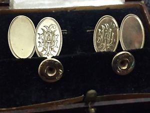 【送料無料】メンズアクセサリ― ビンテージゴールドアールデコスタッドボルトセットオリジナルボックスグアテマラvintage gold art deco cufflink and stud set in original box gt