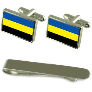【送料無料】メンズアクセサリ― フラグシルバーカフスボタンタイクリップボックスセットgelderland flag silver cufflinks tie clip box gift set
