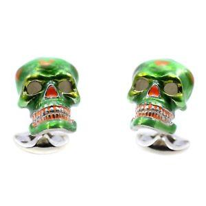 【送料無料】メンズアクセサリ― ディーキンフランシススターリングシルバーメキシコスカルカフスボタンキャンディカラベラスdeakin and francis sterling silver mexican skull cufflinks candy sugar calavera