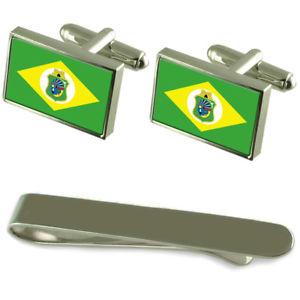 【送料無料】メンズアクセサリ― フラグシルバーカフスボタンタイクリップボックスセットcear flag silver cufflinks tie clip box gift set