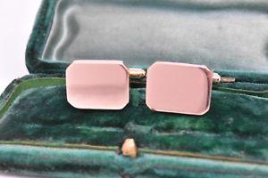 【送料無料】メンズアクセサリ― ヴィンテージゴールドメンズカフスボタンアールデコデザインvintage 14ct gold mens cufflinks with an art deco design 845g g109