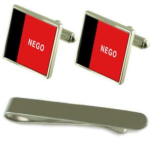 【送料無料】メンズアクセサリ― フラグシルバーカフスボタンタイクリップボックスセットparaba flag silver cufflinks tie clip box gift set