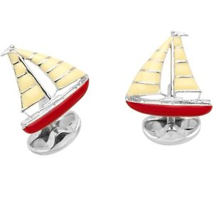 【送料無料】メンズアクセサリ― ヨットカフリンクスsterling silver yacht cufflinks
