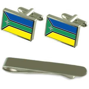【送料無料】メンズアクセサリ― アマパフラグシルバーカフスボタンタイクリップボックスセットamapa flag silver cufflinks tie clip box gift set