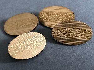 【送料無料】メンズアクセサリ― ビンテージアールデコディスクカフスボタンチェーンリンクvintage hgamp;s art deco disc cufflinks hallmarked 12ct gold plated chain link