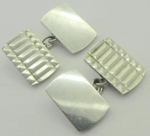 【送料無料】メンズアクセサリ― ビンテージソリッドシルバーカフリンクスロンドンヘンリーグリフィスvintage solid silver cufflinks, london 1966, by henry griffiths