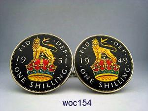 【送料無料】メンズアクセサリ― イギリスシリングカフスボタンライオンuk english shilling cufflinks lion 1947 1948 1949 1950 1951