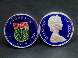 【送料無料】メンズアクセサリ― イギリスローデシアコインカフスボタン1964 british rhodesia coin cufflinks 23mm