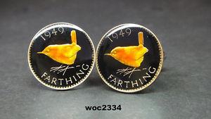 【送料無料】メンズアクセサリ― コインカフリンクス19371956 british farthing coin cufflinks choice of match year