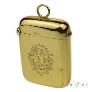 【送料無料】メンズアクセサリ― イエローゴールドケース9ct yellow gold vesta case dating circa 1902