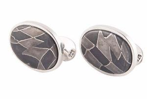 k damascus cufflinks thau by 【送料無料】メンズアクセサリ― handmade designer alan デザイナーアランダマスカスハンドメイドカフリンクスmeteorite