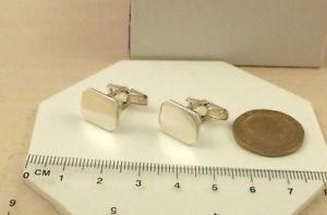 【送料無料】メンズアクセサリ― ソリッドスターリングシルバーカフリンクスcl245pln gents solid 925 sterling silver rectangular octagonal cufflinks