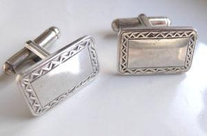 【送料無料】メンズアクセサリ― ビンテージスターリングシルバーカフリンクス listingmens sturdy vintage sterling silver cufflinks