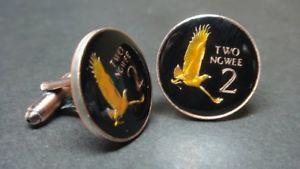 【送料無料】メンズアクセサリ― ザンビアコインカフスボタンzambia coin cufflinks 21mm