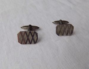 【送料無料】メンズアクセサリ― ビンテージレトロシルバーカフスボタンbeautiful vintage retro silver cufflinks english hallmarks