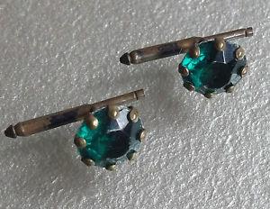 【送料無料】メンズアクセサリ― ビンテージメンズカフリンクスアールデコグリーンガラスcufflinks vintage mens cuff links 1920s 1930s art deco aged goldtone green glass