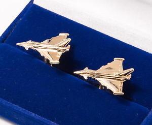 【送料無料】メンズアクセサリ― カフリンクスeurofighter typhoon gold plated cufflinks