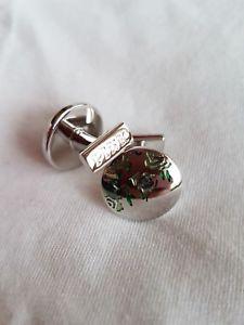 【送料無料】メンズアクセサリ― トーマスピンクディスクカフリンクスthomas pink floral disc cufflinks