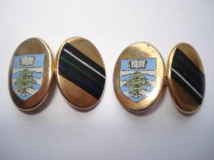【送料無料】メンズアクセサリ― ビンテージエナメルカフリンクスc1960s vintage canford school hand painted enamel gents cufflinks