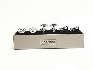 【送料無料】メンズアクセサリ― カフスボタンセットset of 3 doctor cufflinks gift set