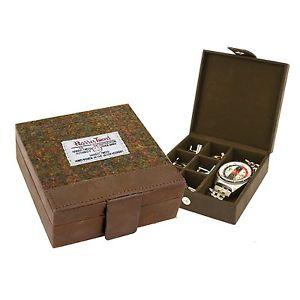 【送料無料】メンズアクセサリ― ハリスツイードボックスharris tweed stornaway cufflink box