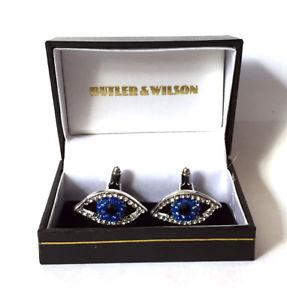 【送料無料】メンズアクセサリ― バトラーウィルソンクリスタルエナメルボックスbutler and wilson crystal enamel eye cufflinksin box