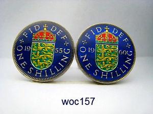 【送料無料】メンズアクセサリ― コインカフスボタンシリング1953 1966 british coin cufflinks shilling